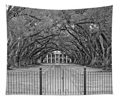 Gateway To The Old South Monochrome Tapestry