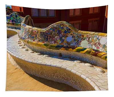 Gaudi's Park Guell Sinuous Curves - Impressions Of Barcelona Tapestry