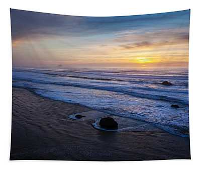 Gentle Evening Waves Tapestry