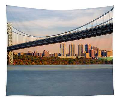 George Washington Bridge In Autumn Tapestry