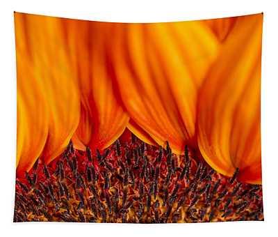 Gerbera On Fire Tapestry