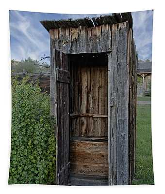 Ghost Town Outhouse - Montana Tapestry