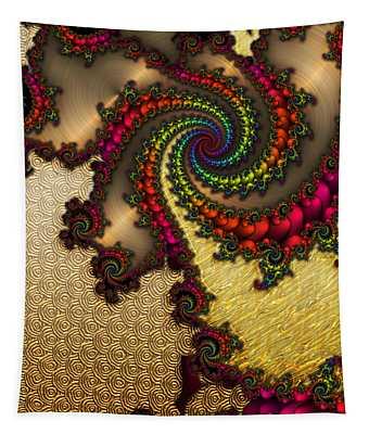 Gilded Fractal 10  Tapestry