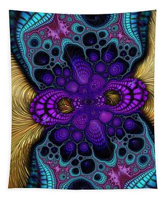 Gilded Fractal 8  Tapestry