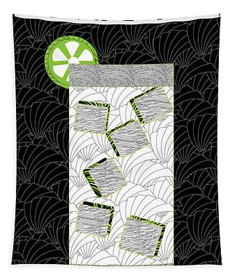 Gin And Tonic Cocktail Art Deco Swing   Tapestry