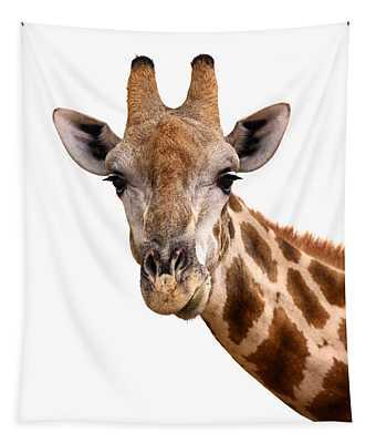 Giraffe Portrait Tapestry