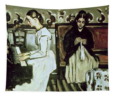 Girl At The Piano Overture To Tannhauser, 1868-69 Oil On Canvas Tapestry