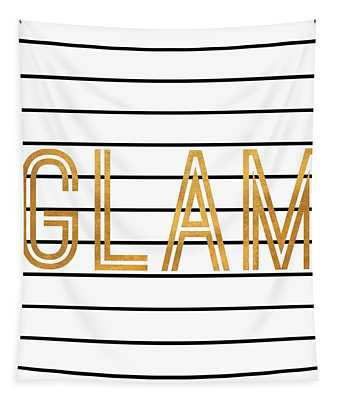 Glam Pinstripe Gold Tapestry