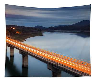 Glowing Bridge Tapestry