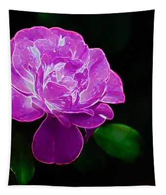 Glowing Rose II Tapestry