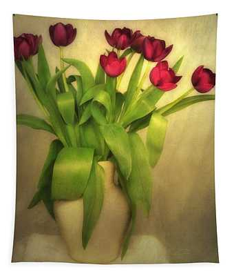 Glowing Tulips Tapestry