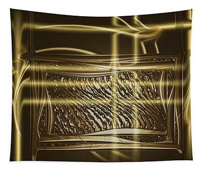 Gold Chrome Abstract Tapestry