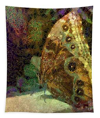 Golden Butterfly Tapestry