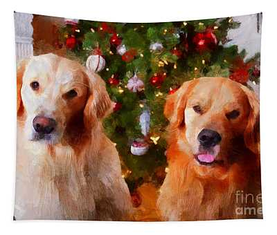 Golden Christmas Tapestry