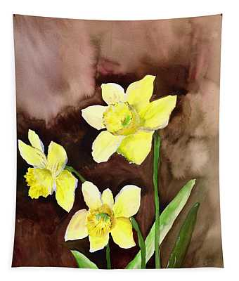 Golden Daffodils Tapestry