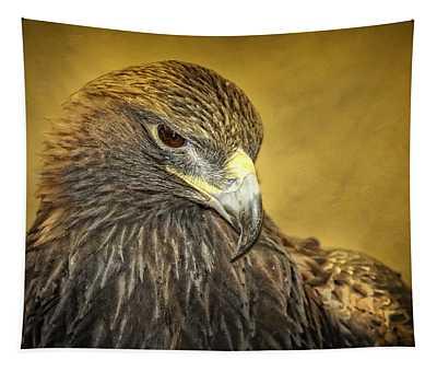 Golden Eagle Portrait Tapestry