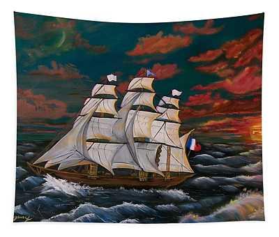 Golden Era Of Sail Tapestry