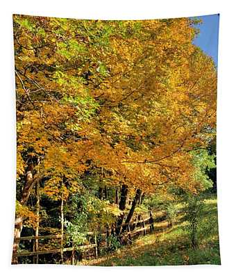Golden Fenceline Tapestry