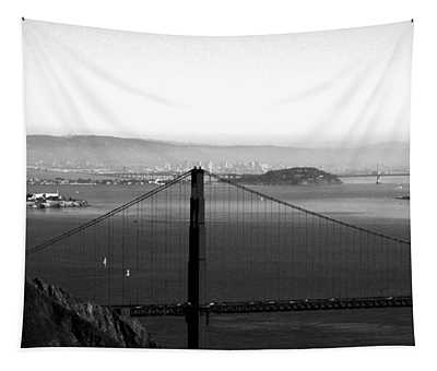 Golden Gate And Bay Bridges Tapestry