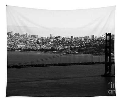 Golden Gate Bridge In Black And White Tapestry