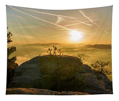 Golden Morning On The Lilienstein Tapestry