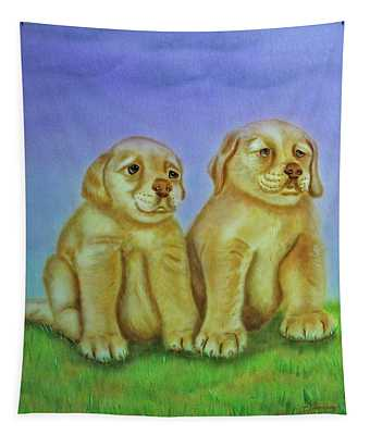 Golden Retriever Tapestry