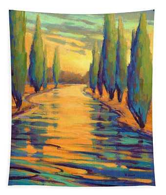 Golden Silence 3 Tapestry