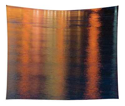 Golden Streamers Of Light Tapestry