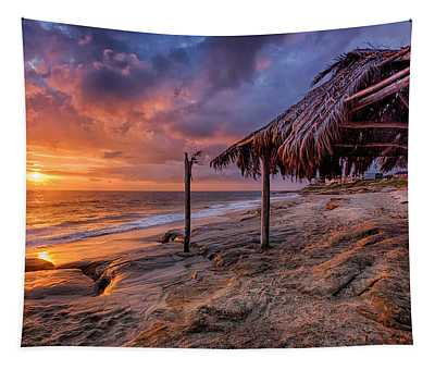 Golden Sunset The Surf Shack Tapestry
