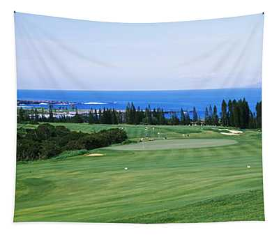 Golf Course At The Oceanside, Kapalua Tapestry