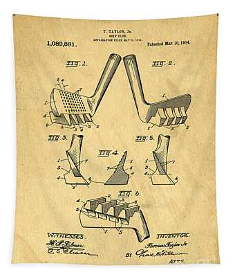 Golf Putter Patent Tapestry