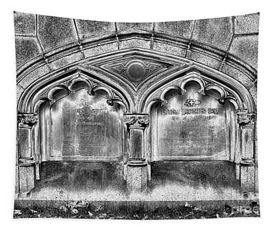 Gothic Crypt Bw Tapestry