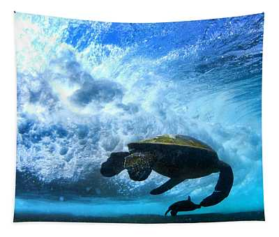 Grace Under The Waves Tapestry