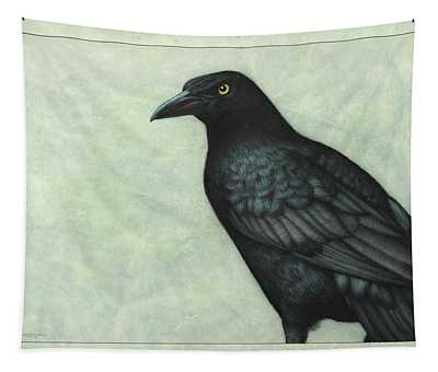 Tapestry featuring the painting Grackle by James W Johnson
