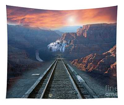Grand Canyon Collage Tapestry