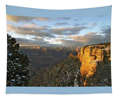 Grand Canyon. Winter Sunset Tapestry
