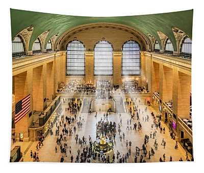 Grand Central Terminal Birds Eye View I Tapestry