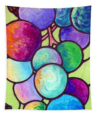 Tapestry featuring the painting Grape De Chine by Sandi Whetzel