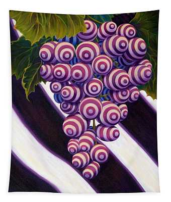 Tapestry featuring the painting Grape De Menthe by Sandi Whetzel