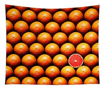 Grapefruit Slice Between Group Tapestry