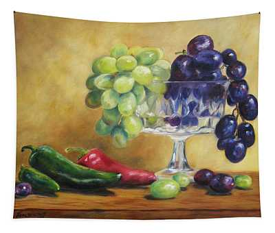 Grapes And Jalapenos Tapestry