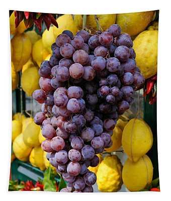 Grapes And Lemons - Fresh Fruit Tapestry