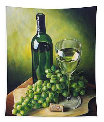 Grapes And Wine Tapestry