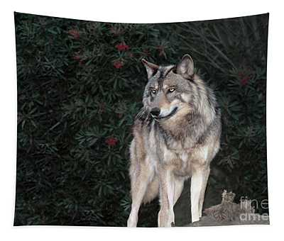 Gray Wolf Endangered Species Wildlife Rescue Tapestry