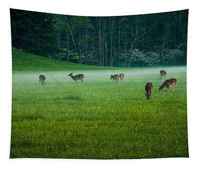 Grazing Deer Tapestry