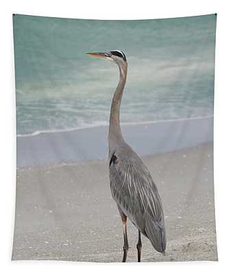Tapestry featuring the photograph Great Blue Heron by Kim Hojnacki