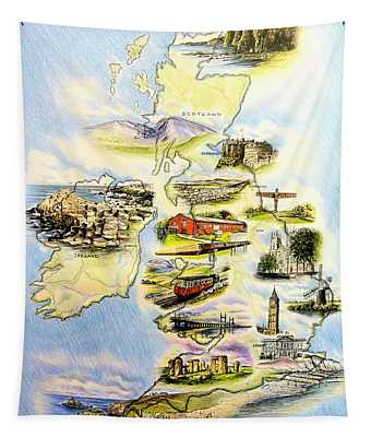Great Britain And Ireland Tapestry