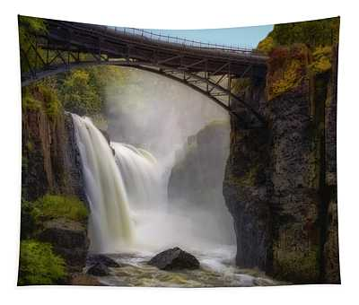 Tapestry featuring the photograph Great Falls Mist by Susan Candelario