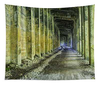Great Norther Railroad Snow Shed Tapestry