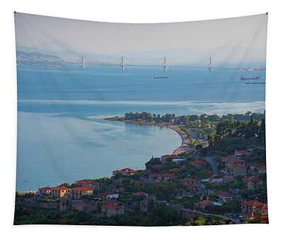 Greece. The Rioantirrio Bridge Tapestry
